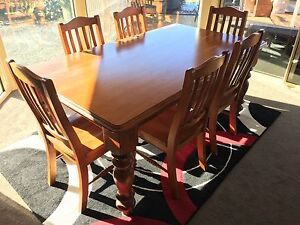 Solid Rustic 6 Seat Dining Table Matching Sideboard Launceston Area Preview