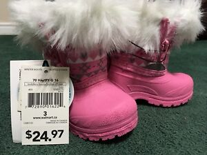 Size 3 baby girl winter boots