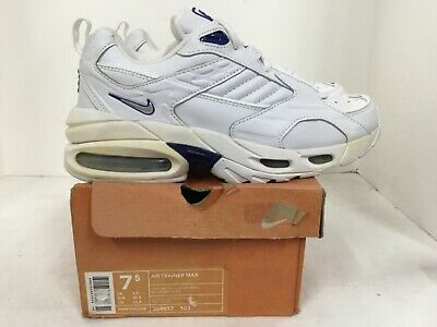 """Nike Air Trainer Max style# 304937 103 Mens size 7.5 white """"vintage"""""""