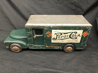 Super Rare 1941-43 Buddy L Cardboard And Wood Pepsi Cola Toy Truck
