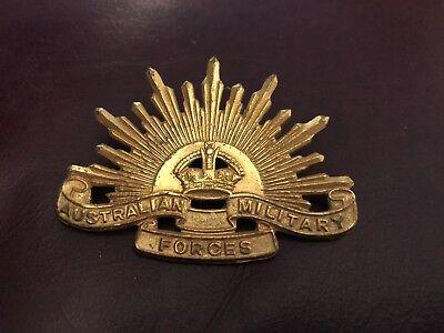 Vintage Australian Military Forces Badge Pin Sunburst 1948 - 1953