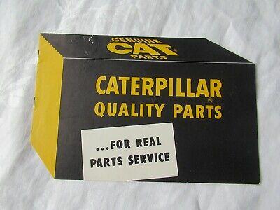 Cat Caterpillar Tractor Quality Parts Training Brochure