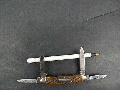 vintage CAMILLUS 4-line stamp 4 BLADE SENATOR PEN KNIFE Excellent Plus