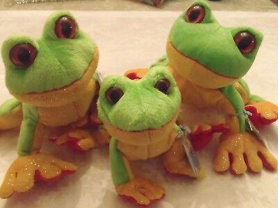 """Adorable"" Webkinz Plush Tree Frogs - Ganz ..NEW"