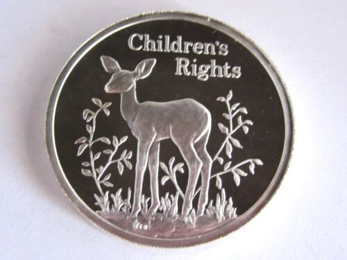 1994 ZAMBIA Childrens Rights 500 Kwacha Silver Coin