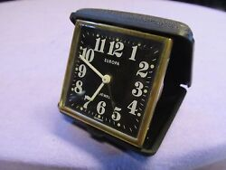 Vintage EUROPA  Jewel Travel Alarm Clock in Case