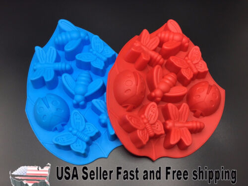 [2 PACK] 8 Cavity Butterfly Silicone Soap Mold for DIY Handmade Soap ~US Seller