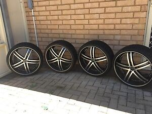 22 inch Versus rims and tyres Campbelltown Campbelltown Area Preview