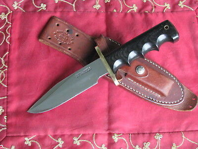 Randall #15 Airman Custom Handmade Knife, Stainless, Finger grips, w/Sheath