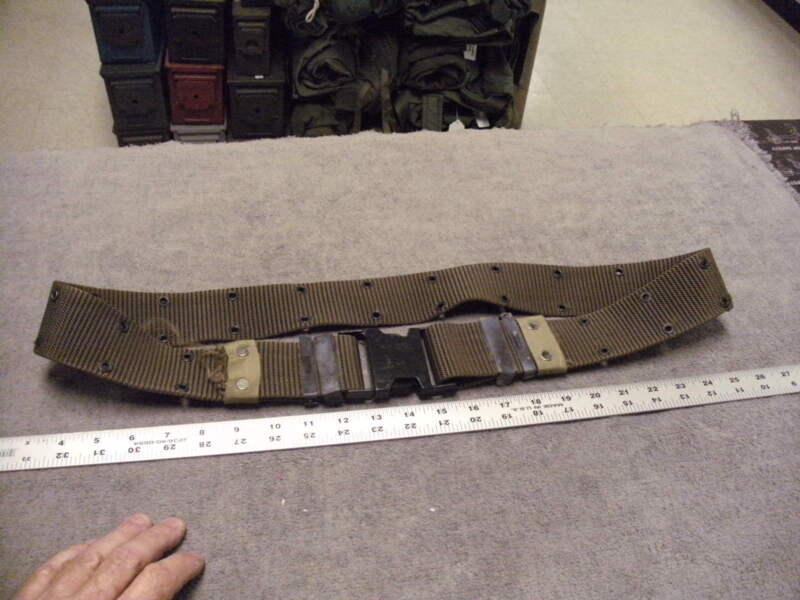 Olive Green  Nylon GI Type Pistol Belt,   Size Med to Large , Plastic Buckle