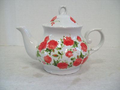 Beautiful Rose Garden Floral Porcelain Tea Pot Teapot