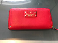 Beautiful bright red Kate Spade wallet AUTHENTIC