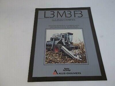 Allis-chalmers L3 M3 F3 Gleaner Combines Sales Brochure