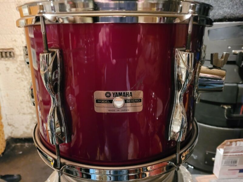 RARE VINTAGE 1980S YAMAHA RECORDING STANDARD GA WINE RED 13X9 TOM DRUM JAPAN
