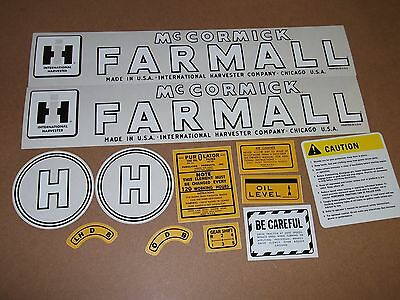 Farmall Model H Decals. 1945-1952. Mylar. See Details And Pictures.