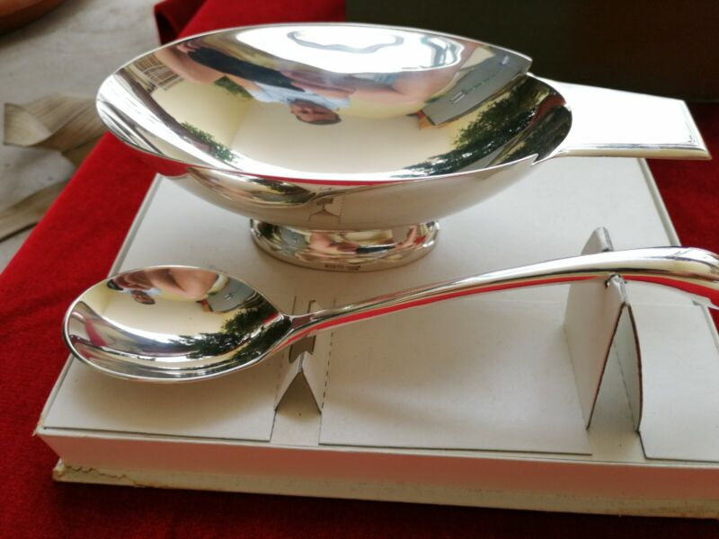 Christofle Cygne Silver Plated Swan Sauce Boat Christian Fjerdingstad Sauciere