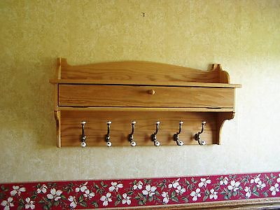 48 Wall Coat Rack (Coat Rack Glove Storage Oak Wall Shelf 48