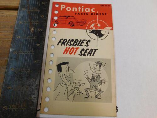 1957 PONTIAC FACTS DIGEST     DEALER USE ORIGINAL