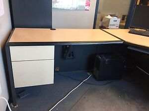 U- Shaped Managers Desk with storage - business closing!