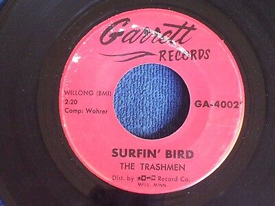 The Trashmen/Surfin' Bird-King of the Surf/Garrett Records GA-4002/VG+ to EX