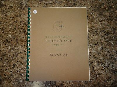 Telequipment Type 52 Operation Manual