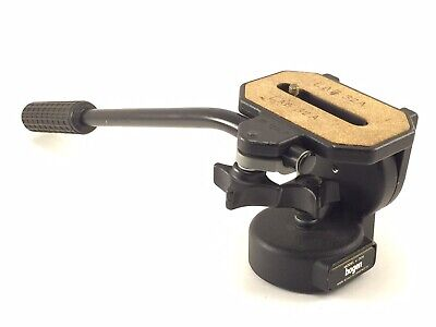Bogen Manfrotto 3126 128LP Micro Fluid Head -LOOKS & WORKS GREAT For Video/Photo