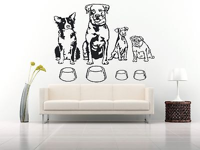 Wall Room Decor Art Vinyl Sticker Mural Decal Types Of Dog Breeds Animal FI114