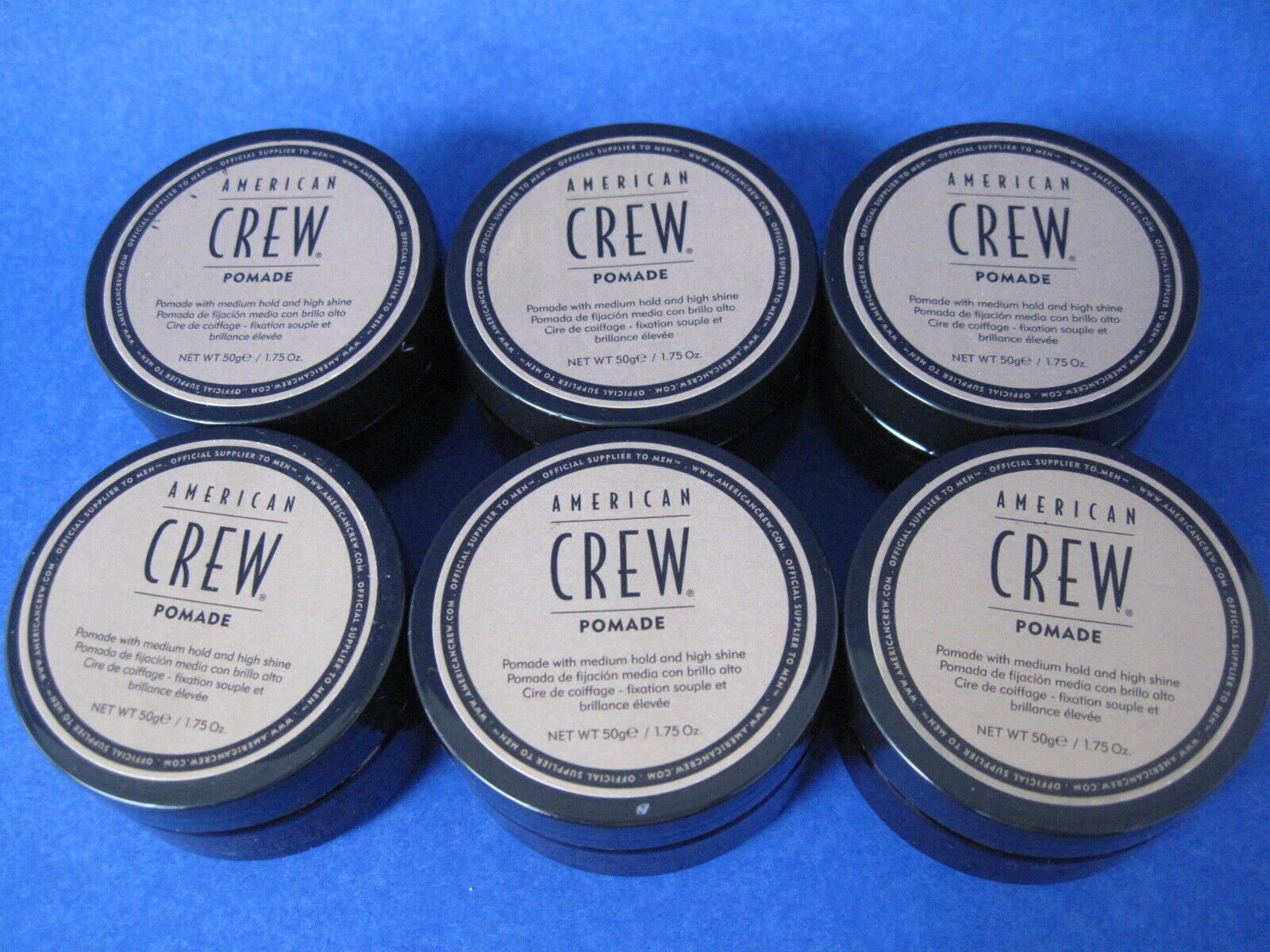 American Crew Pomade 1.75 oz Lot of 6 jars