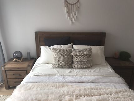 Silverwood Queen Bed, Bedside Drawers & Tallboy