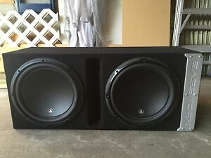 Two 12 JL Subs in Bassworx Box