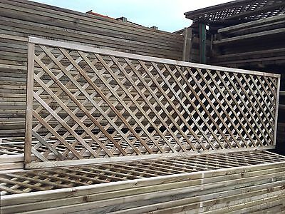 6x2 Elite Alderley Diamond Trellis 183 x 60 Garden Lattice Fence Topper Climbing