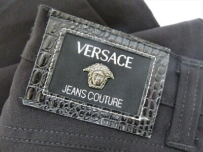 Versace Jeans Couture Black Stretch Trousers - High Waist - W29 L31
