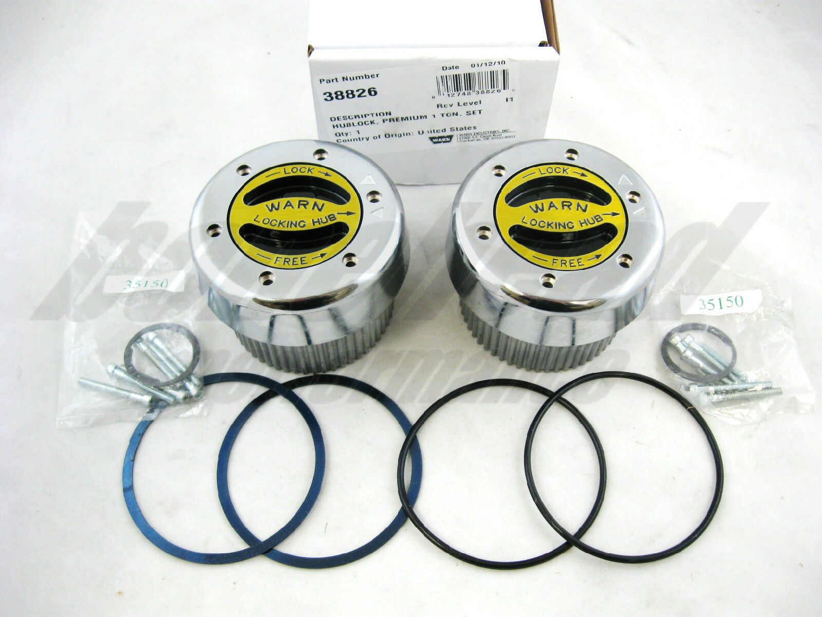 warn parts accessories warn 38826 premium 4wd manual locking hubs 1999 2004 ford super duty f 250