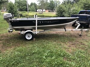 2013 Lund boat, 15hp Honda and trailer