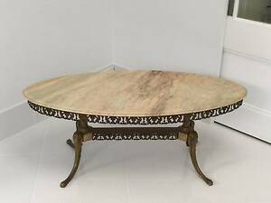 Brass coffee table with marble top gumtree australia for Coffee tables brisbane qld