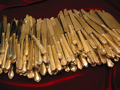 Vintage Silverplate Dinner Knives Craft Lot of 75 Hollow Handle Stainless Blade