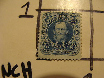 MATCH IRS ONE CENT----barber match co. middlebury summit co. OHIO #2