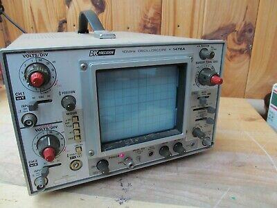 Vintage Bk Precision 10mhz Oscilloscope 1476a