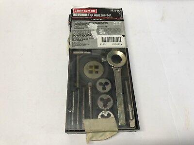 Craftsman 19pc Tap Die Set Sae 52341 Usa Made
