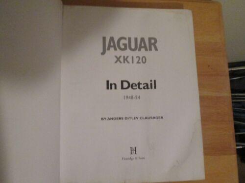 Auto Vintage Jaguar XK 120 in Detail Signed by Author A D Clausager Shows Age