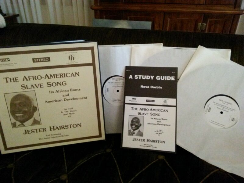 Jester Hairston/The Afro-American Slave Song, Hinshaw 1978 w/ 3 Albums and Study