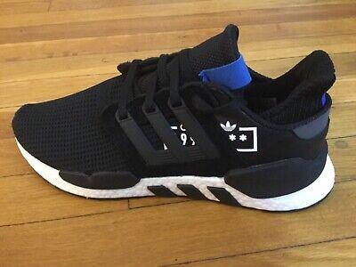 Adidas Men's Originals EQT Support 91/18 Running Shoes D97061 Black Blue 8.5 (Running Support)