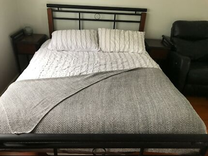 Queen bed and matching bedside tables - great condition!