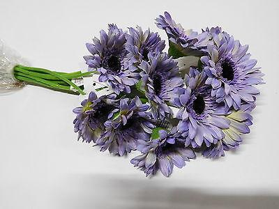12 x Gerbera 12tlg. Set Seidenblume Kunstblume 48 cm lila flieder 201339-82 F11