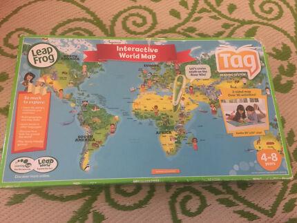 Leapfrog leapreader books toys indoor gumtree australia leapfrog interactive world map gumiabroncs Gallery