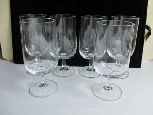 Pan Am First Class Wine Glasses SET OF 6