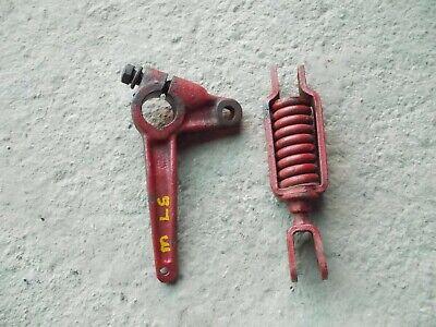 Farmall M Ih Tractor Original Left Brake Actuator Parts Bracket Spring
