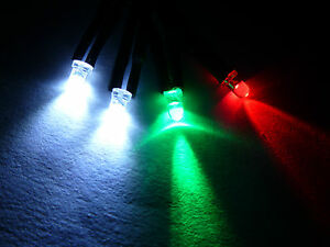 Model Boat Navigation Light Set 6/12v LED 1 Green, 1 Red & 2 Clear Bulbs N4