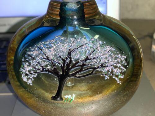 Thames Art Glass perfume Bottle Signed by Matthew Buechner 1990