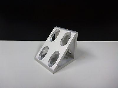 8020 Inc Equivalent Aluminum 8 Hole Inside Corner Gusset 10 Series Pn 4138 New